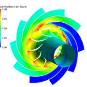 Figure 2: Simulated heat distribution on the turbine.